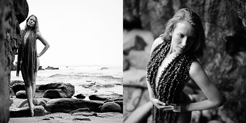 Fine art portraits on the beach in La Jolla